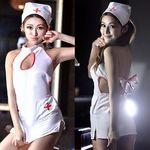 胸元オープン・バックリボンのセクシーナース(衣装・コスチューム)
