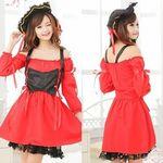 編み上げが可愛い真っ赤なパイレーツガール(衣装・コスチューム)