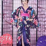 <Love Rich>フラワーロング着物ドレス 和柄 花魁 キャバドレス (チェリーピンク)(衣装・コスチューム)