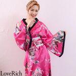 <Love Rich>孔雀和柄花魁着物ロングドレス コスチューム 衣装 キャバドレス (チェリーピンク)(衣装・コスチューム)