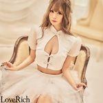 <Love Rich>ボリュームパニエスカートドレス キャバドレス(ホワイト)(衣装・コスチューム)